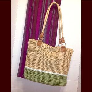 Croft&Barrow's Zippered Crocheted Shoulder Bag